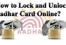 How to Lock and Unlock Aadhar Card Online