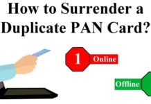How-to-surrender-the-Duplicate-PAN-Card-online-and-offline