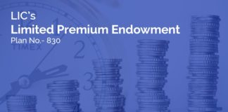lic limited premium endowment plan 830