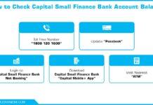 How to Check Capital Small Finance Bank Account Balance