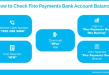 How to Check Fino Payments Bank Account Balance
