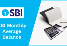 SBI Monthly Average Balance