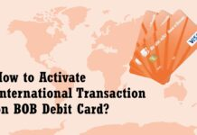 How to Activate International Transaction on BOB Debit Card