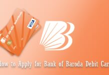 how to apply for bank of baroda debit card